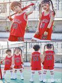 兒童球服 夏季兒童籃球服套裝男女童寶寶幼兒園六一表演服中小學生訓練球衣 米蘭shoe