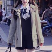 毛呢外套-學院風顯瘦羊毛短款女連帽大衣3色72at15[巴黎精品]