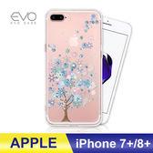 iPhone 7/8 Plus 7+ 8+ 手機殼 奧地利水鑽 立體彩繪 空壓殼 彩鑽 手工貼鑽 防摔殼 多鑽版 - 結晶冰樹