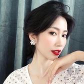 S925銀針煙花珍珠耳釘耳墜女氣質韓國耳環耳飾【極簡生活】