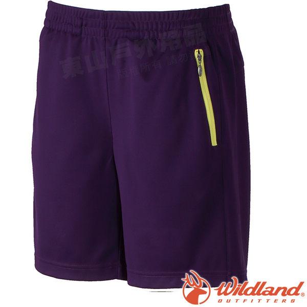 Wildland 荒野 W1663-53紫色 女 透氣抗UV排汗短褲 抗UV/吸濕排汗/透氣機能褲/休閒褲/運動褲