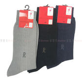 【KP】長統襪 Roberta di Camerino 休閒條紋紳士刺繡襪 中灰 黑色 丈青 多顏色 尺寸 25cm 正