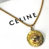 BRAND楓月 CELINE 復古 金色 星星圖案 行星造型 立體 項鍊 飾品 配件
