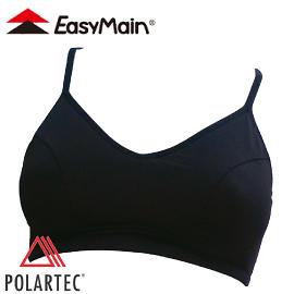 【EasyMain 衣力美 頂級彈性快乾運動胸衣 細肩帶 黑】M002/內衣/運動內衣/運動背心