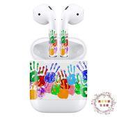 蘋果無線耳機airpods專用個性貼紙貼膜保護配件 耳機盒貼膜套裝