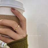 復古港風麻花扭曲食指戒指女時尚個性網紅冷淡風開口指環
