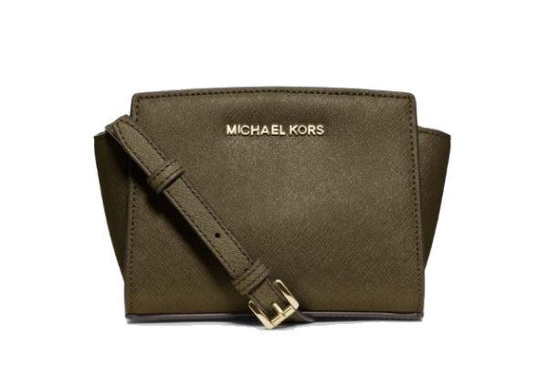 MICHAEL KORS  Mini Selma 側肩包 斜背包 防刮皮革 橄欖綠