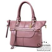 DF Queenin - 韓版文藝質感系隨身小包收納包-共3色