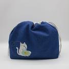 藍海漂浮束口包/拼布包包