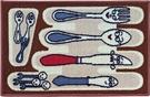 范登伯格-埃及進口防滑優質踏墊-卡通餐具-44x70cm
