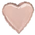 18吋愛心鋁箔氣球(不含氣)-玫瑰金