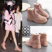 短靴秋冬季馬丁靴女靴學生正韓冬鞋加絨棉鞋網紅雪地短靴奈斯女装