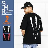 短T-嘻哈血爪痕短T-街頭造型設計單品《004DD046》黑色.黑紅色【現貨+預購】『SMR』