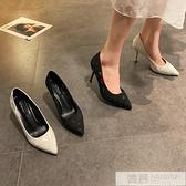 高跟鞋女百搭仙女風2020新款春季尖頭淺口女鞋細跟法式氣質單鞋女  夏季新品
