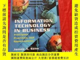 二手書博民逛書店Information罕見Technology in Busin