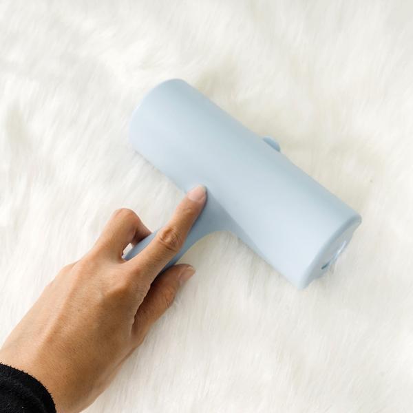 隨手黏塵把 黏毛滾輪 藍 60撕 防塵掀蓋式設計