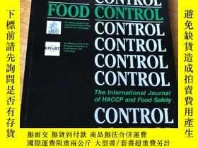 二手書博民逛書店Food罕見Control 食品管理控制學術論文考研資料原版期刊