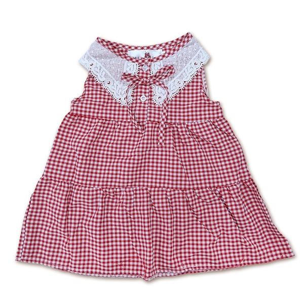 女童格紋無袖連身裙 短洋裝 [65144] RQ POLO 小童5-17碼 春夏 童裝 現貨