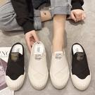 穆勒鞋.韓國街頭百搭交叉拼接網紗餅乾底拖鞋.白鳥麗子