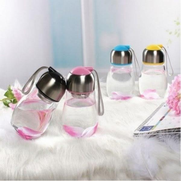 水杯   迷你Q企鵝水晶玻璃杯440ml 水瓶 茶葉 水杯 隨手杯 咖啡 水壺 隨行杯  【KCG063】-收納女王