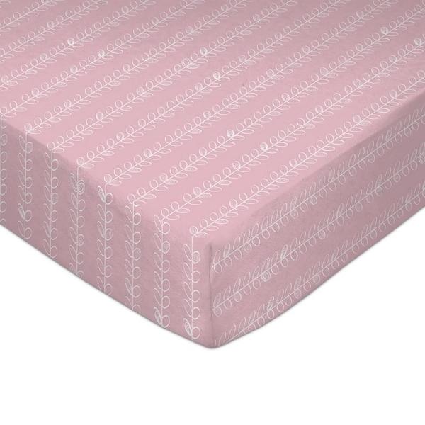 【愛吾兒】澳洲 Lolli Living 嬰兒床單/床包/床罩-Pink Vines