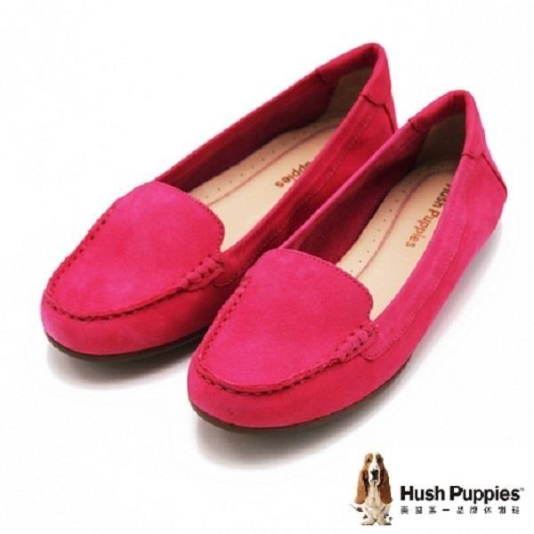【南紡購物中心】Hush Puppies MARZIA ROBYN系列 全真皮經典素面莫卡辛鞋 女鞋-桃(另有黑)