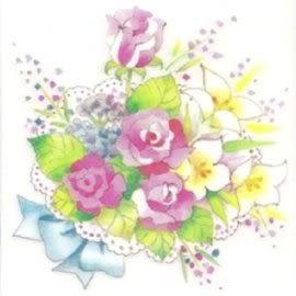 美飾玫瑰花轉印膠片(6入)