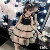 女童連身裙夏裝2019新款洋氣童裝連身裙6歲蓬蓬紗蛋糕裙7歲女孩公主裙潮 PA6199『紅袖伊人』