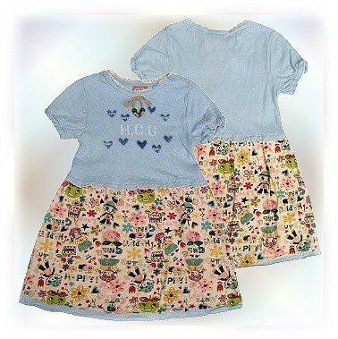 【波克貓哈日網】棉質連身小洋裝◇Sugar Candy◇《粉藍色》120cm