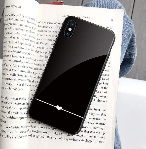 玻璃鏡面IPhone 11pro日韓簡約手機套 新款情侶iphone 11保護套 全包防摔超薄蘋果11pro Max手機殼