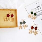 【NiNi Me】韓系耳環 夾式耳環優雅森林系木頭樹葉耳針 夾式耳環 E0162