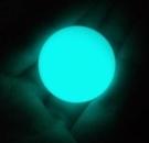 天然螢石夜明珠原石發光球夜光石