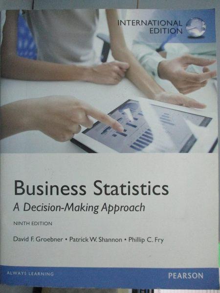 【書寶二手書T1/大學商學_YKI】Business statistics : a decision-making approach