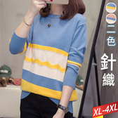 拼色鋸齒洞波浪針織上衣(2色) XL~4XL【332713W】【現+預】☆流行前線☆