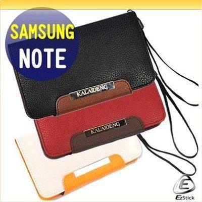 【EZstick】Samsung Galaxy Note N7000(i9220)專用 韓式皮套 (米白/紅/黑 三色可供擇一選購)買就送專用螢幕貼