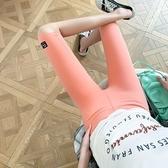 打底褲安全褲新款大碼女裝五分騎行褲提臀薄款緊身中褲透氣糖果色短褲4F054-2056.胖胖美
