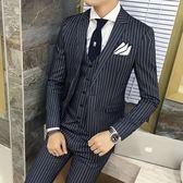 西裝套裝含西裝外套+西裝褲(三件套)-韓版時尚合身設計上班族商務男西服3色73hc28[時尚巴黎]