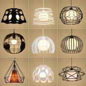 三頭創意個性工業風吧繫臥室餐廳燈簡約現代過道餐吊燈具限時八九折