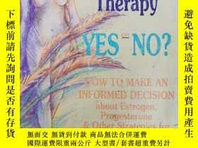二手書博民逛書店HORMONE罕見REPLACEMENT THERAPY YES