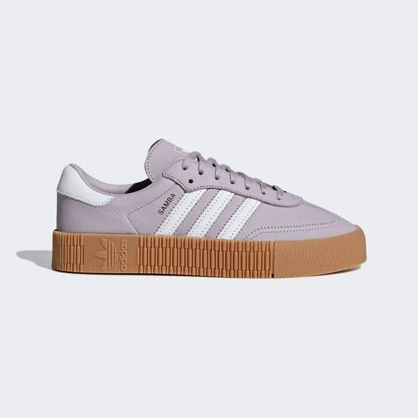 ADIDAS SAMBAROSE W [CG6205] 女鞋 運動 休閒 經典 增高 厚底 舒適 抗菌 愛迪達 粉紫