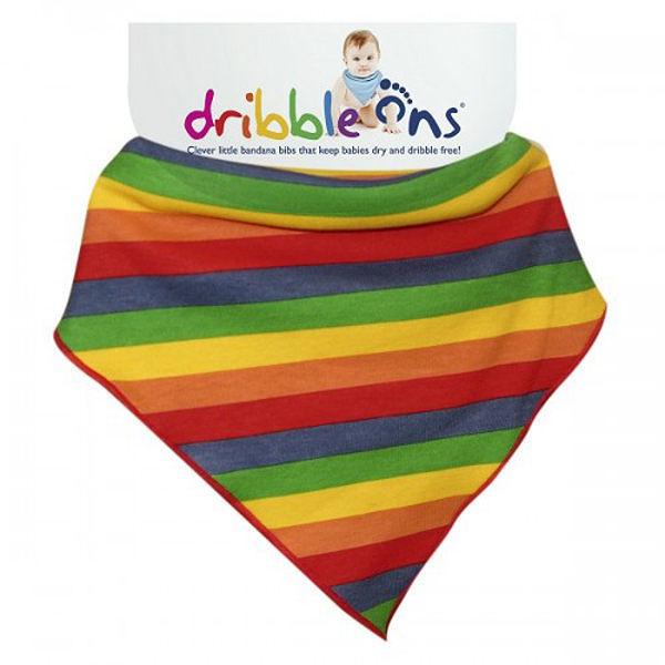 圍兜 / 口水巾 英國 Dribble ons - 嬰兒領巾造型圍兜 彩虹款 (Rainbow) # SC00043