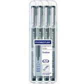 施德樓 MS308 WP4 防乾耐水性代針筆4支組