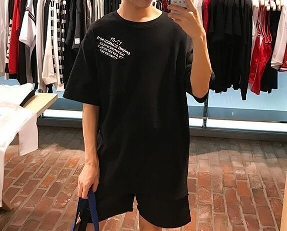 FINDSENSE MD 韓國 潮 男 暗黑系 時尚 後背人臉圖像印花 短袖T恤