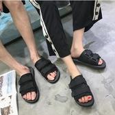 夏季涼鞋男防滑平底沙灘拖鞋男潮 ☸mousika