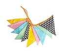【韓風童品】彩色三角旗拉花 棉布掛飾 拍攝背景裝飾 櫥窗裝飾佈置  節慶裝飾裝扮