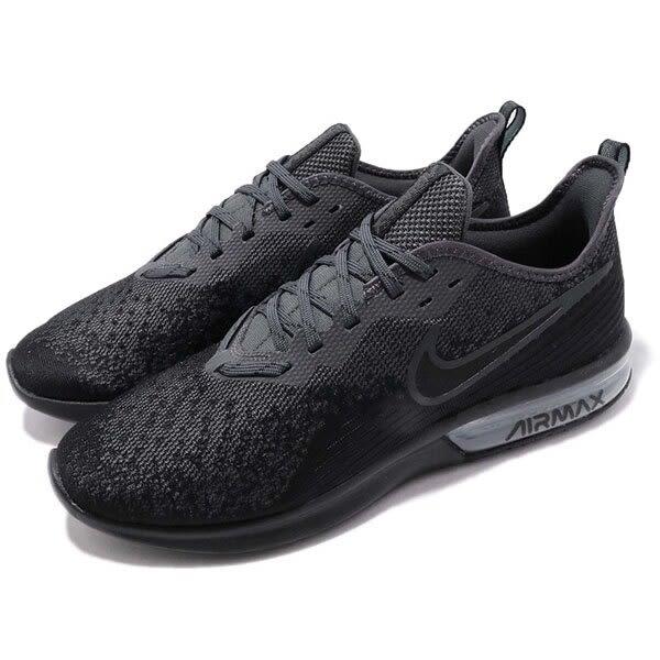 ▲Nike 慢跑鞋 Air Max Sequent 4 黑 全黑 氣墊 輕量透氣 氣墊 男鞋 運動鞋 AO4485-002