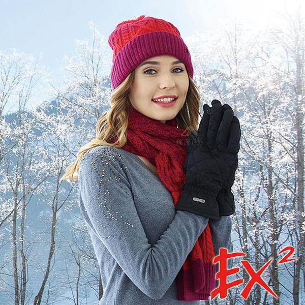 EX2 中性觸控保暖手套『黑』866125 戶外.保暖.可觸控手套.防風.保暖手套.防滑.刷毛手套.滑雪手套