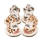 618好康鉅惠 豹紋涼鞋寵物鞋子泰迪比熊小型犬軟底透氣鞋