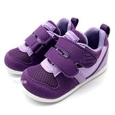 《7+1童鞋》小童 日本月星 MOONSTAR MSB77S61 透氣網布 機能鞋 運動鞋 學步鞋 C496 紫色