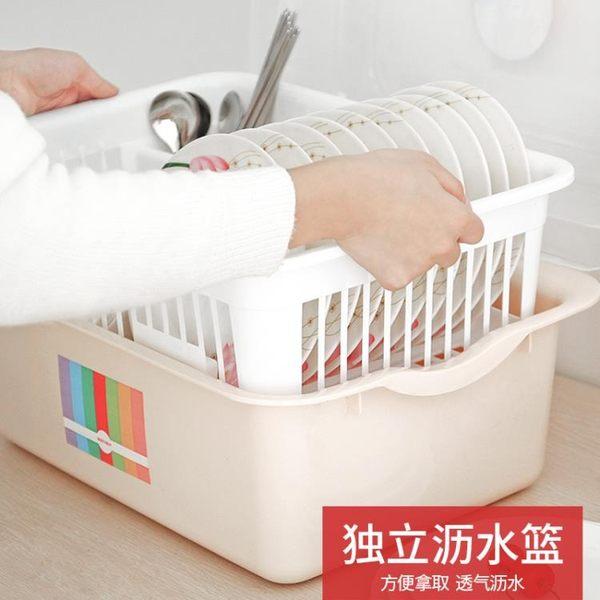 雙11優惠搶先購-碗櫃塑料帶蓋箱餐具瀝水架廚房置物架碗筷收納盒放碗架碗碟架盤子BLNZ